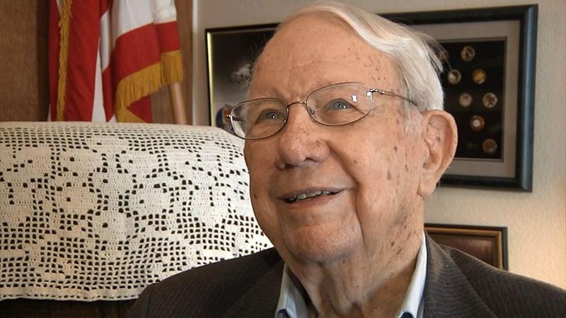 Air Force veteran Fred Seals, now 97, served in three wars. (KTEN)