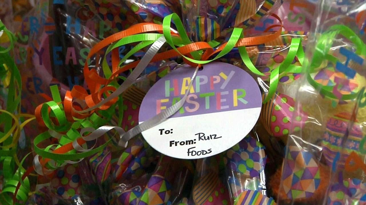 Ruiz Foods donated more than 80 Easter baskets. (KTEN)