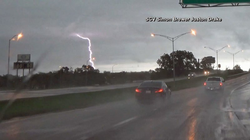 Stormy weather along a highway. (CNN)