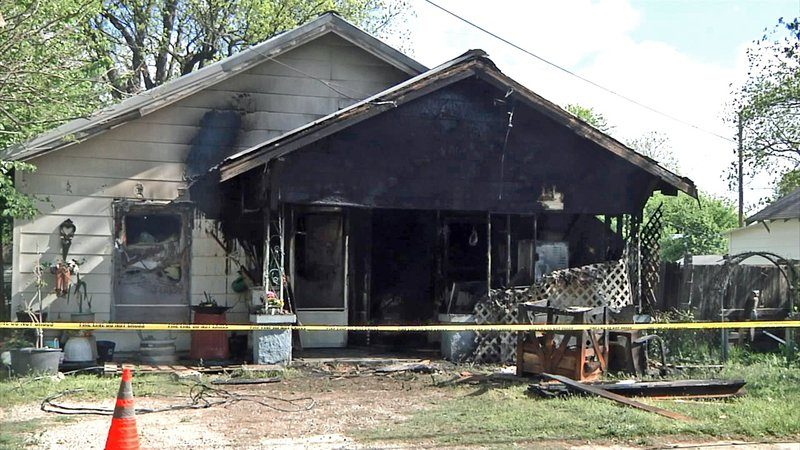 Fire at this Ardmore home claimed the life of its resident on April 19, 2019. (KTEN)