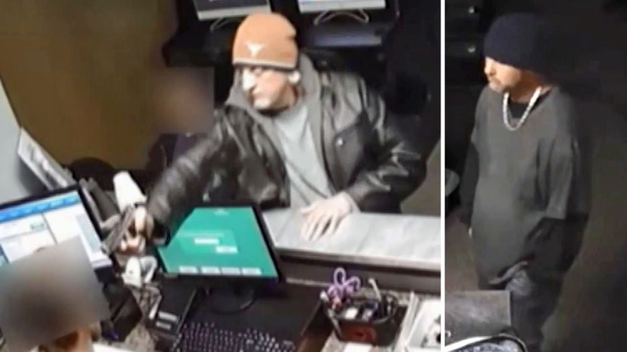 Sherman police are looking for four men who held up the Winners Sweepstakes in November 2018. (Sherman PD)