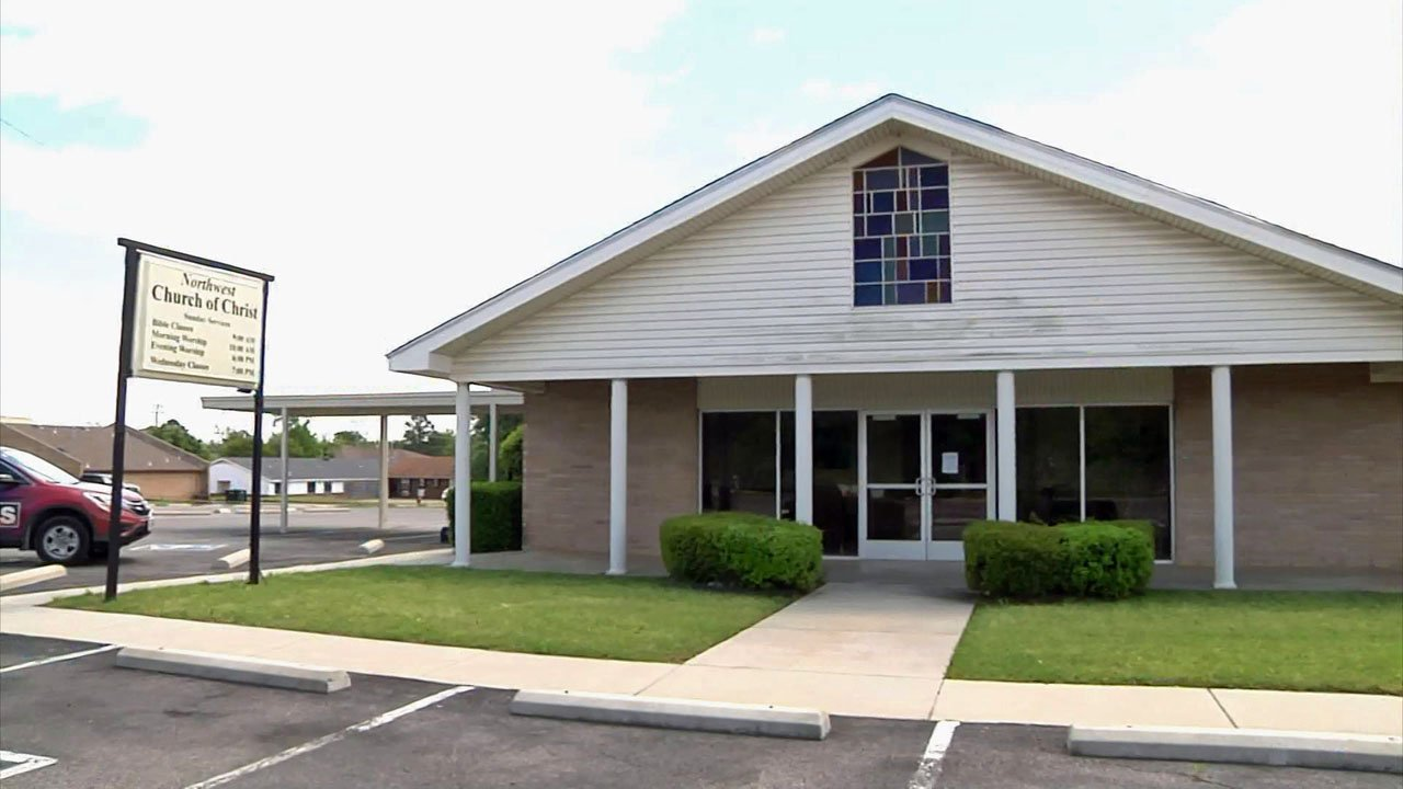 The former Northwest Church of Christ building has been identified as an ideal new site for the Durant senior center. (KTEN)
