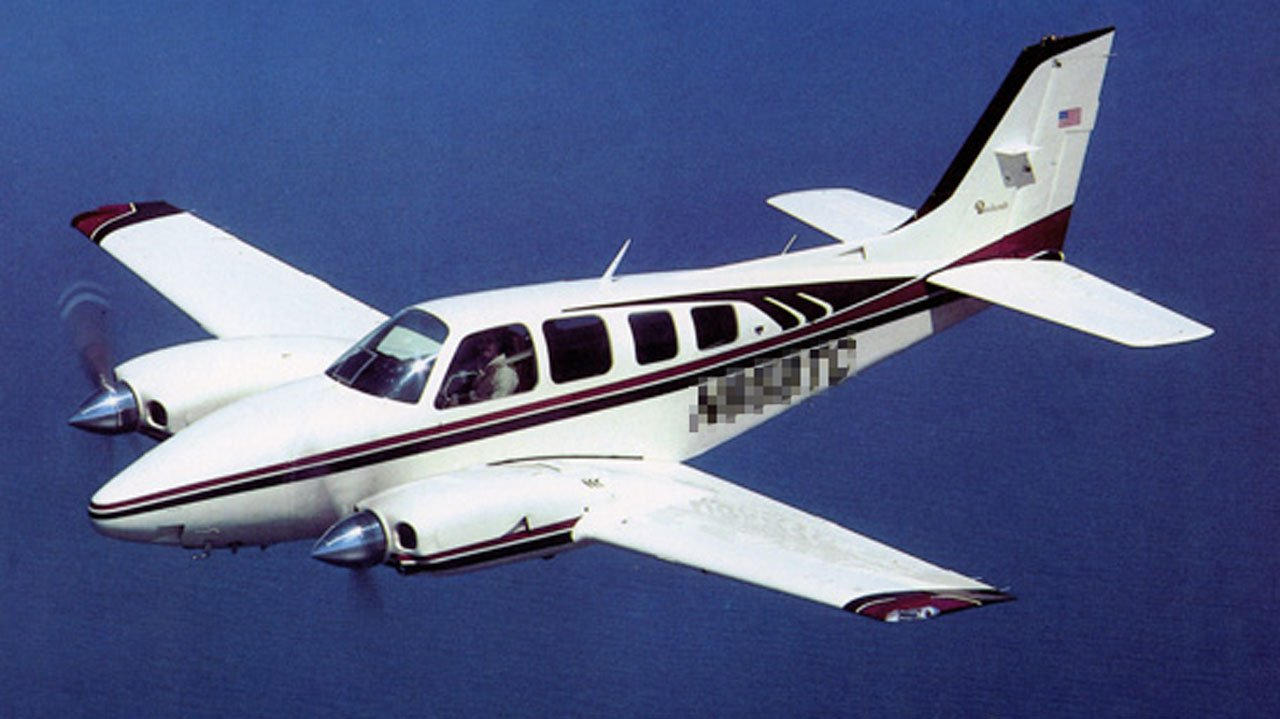 A file photo of a Beechcraft Baron 58 aircraft similar to the one that crashed near Kerrville, Texas, on April 22, 2019.