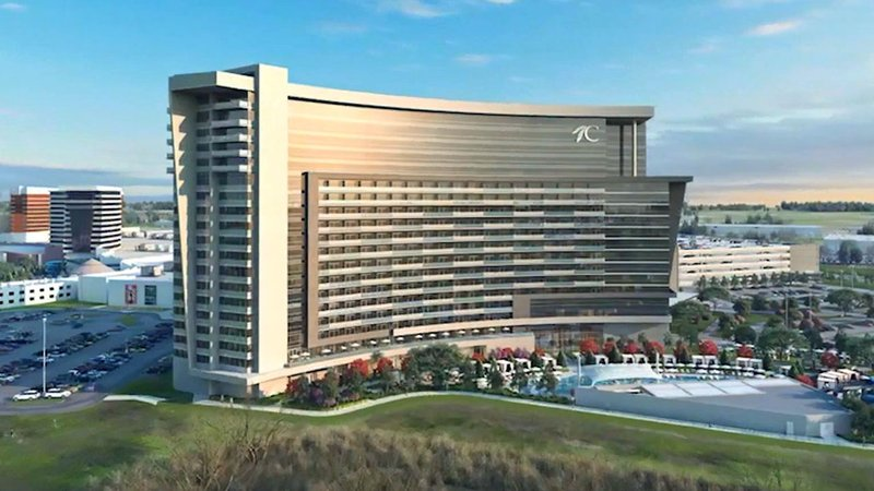 An artist's rendering of the Choctaw Casino Durant expansion. (Courtesy)