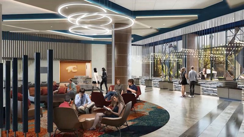 An artist's rendering of the interior of the expanded Chocaw Casino and Resort. (Courtesy)