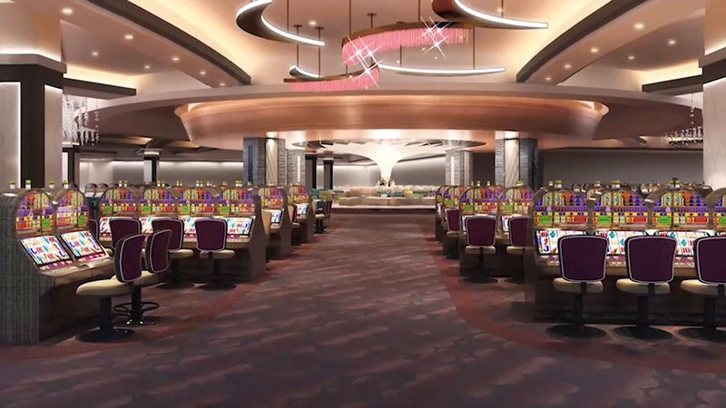 An artist's rendering of the gaming floor of the expanded Chocaw Casino and Resort. (Courtesy)
