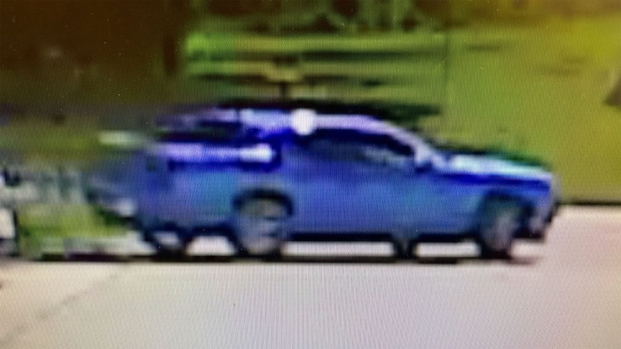 Ardmore police provided this surveillance camera image of the Dodge Challenger driven by the attempted kidnapping suspect. (Ardmore PD)