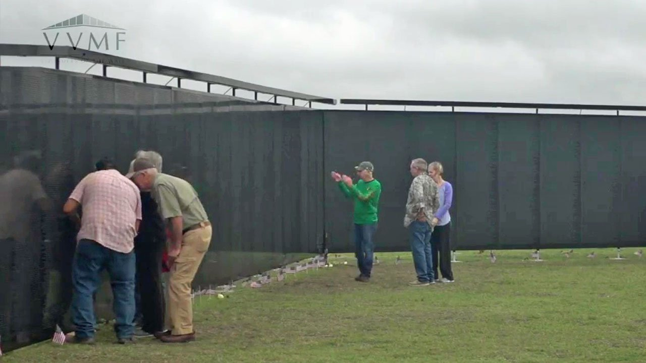 The Wall that Heals is a replica of the Vietnam Veterans Memorial in Washington. (Courtesy VVMF)