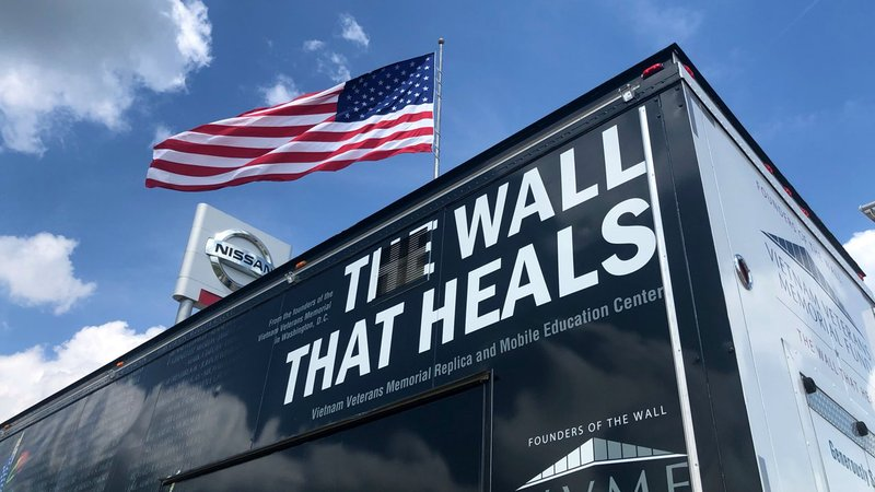 The Wall That Heals made a stop in Denison before moving on to Durant. (KTEN)