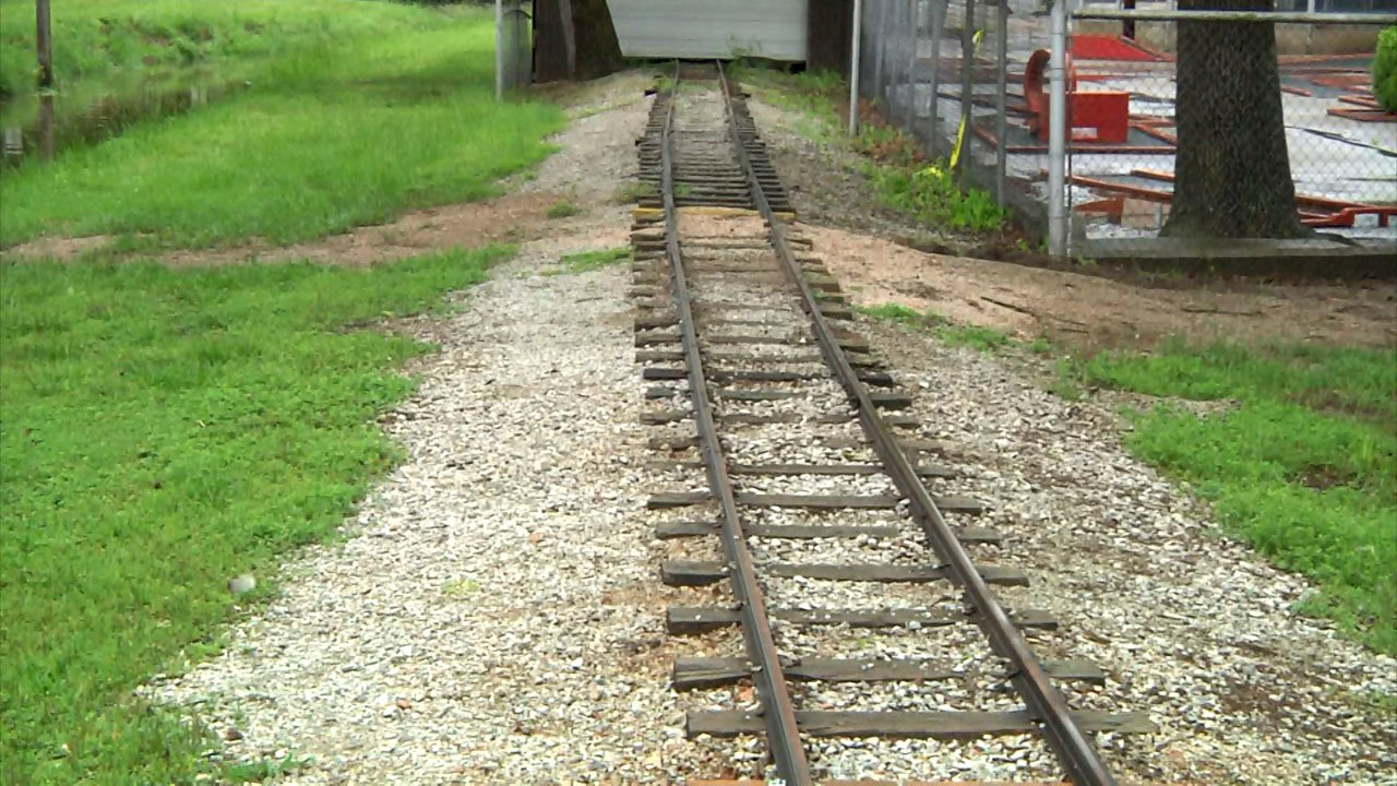 Tracks at Wintersmith Park are in need of repair. (KTEN)
