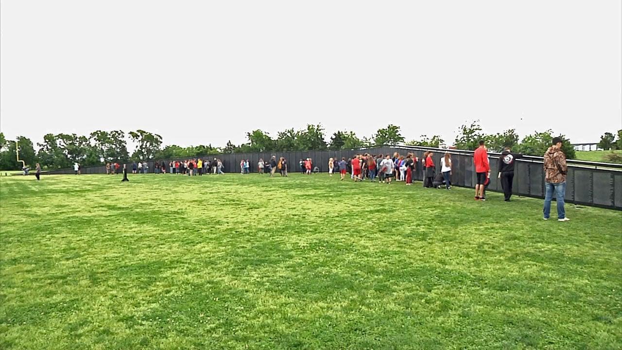 The Wall That Heals is a replica of the Vietnam Veterans Memorial in Washington. (KTEN)