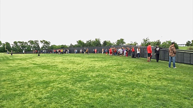 The Wall That Heals is a replica of the Vietnam Veterans Memorial in Washington. (KTEN)