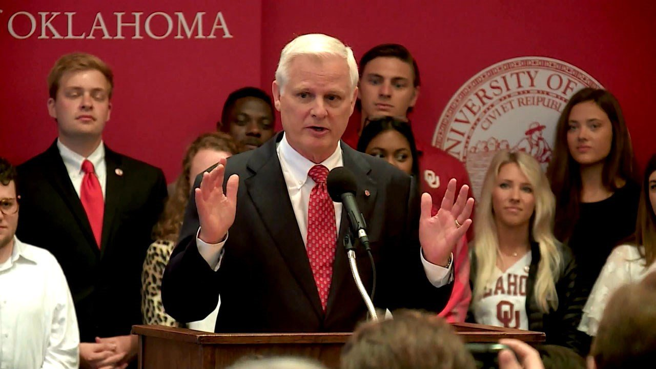 OU President James Gallogly has announced his retirement. (KFOR)