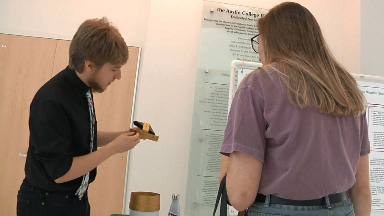 Austin College STEM students showcase their solutions to real world problems. (KTEN)