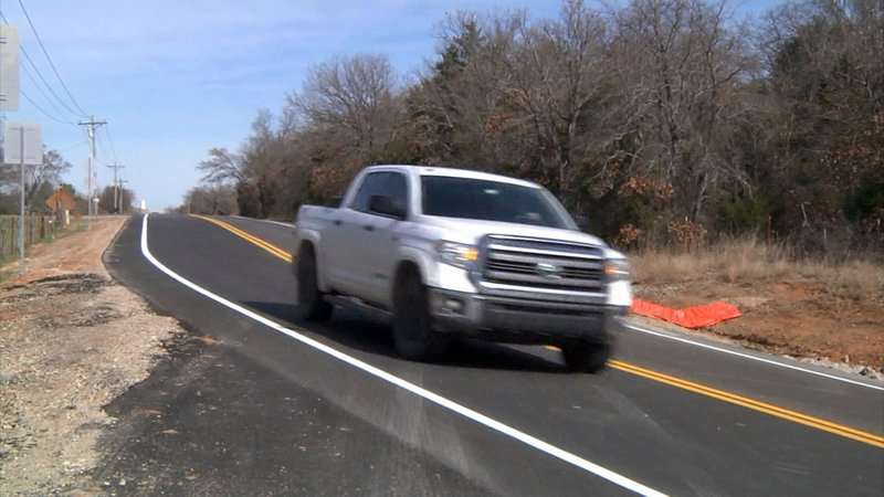A newly-resurfaced road in Marshall County. (KTEN)