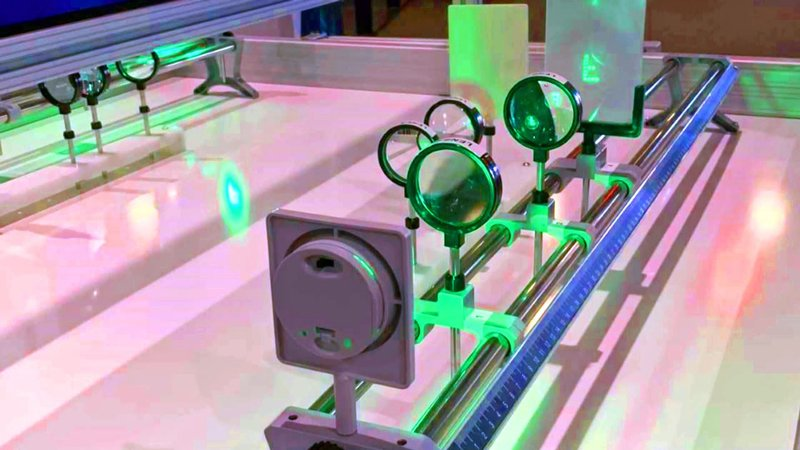 Hands-on exhibits in the Finisar Mobile Laser Lab help kids understand technology. (KTEN)