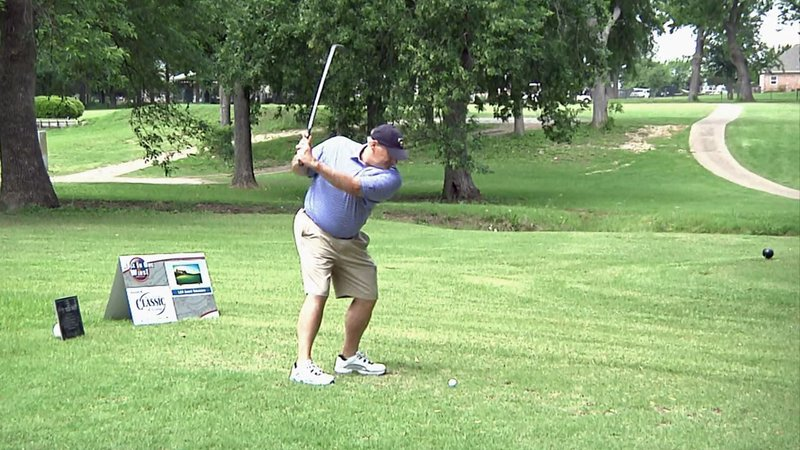 Golfers raised money for law enforcement officers and their families at the 3rd annual Back the Badge tournament. (KTEN)