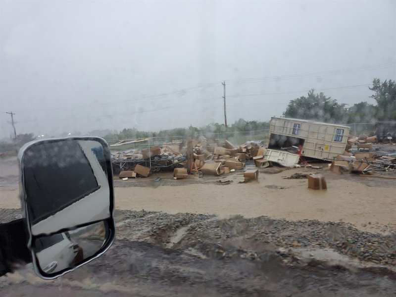Storm damage from from the Tall Oaks Plant near Coalgate, OK
