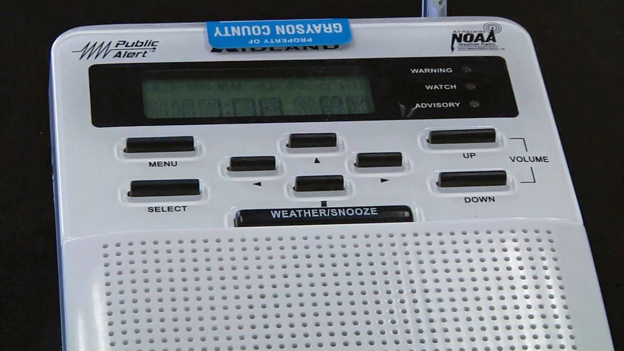 A weather radio is one way to get storm alerts. (KTEN)