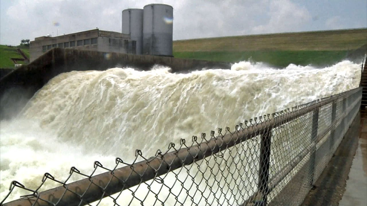 Denison Dam is releasing millions of gallons of water to maintain the level of Lake Texoma. (KTEN)
