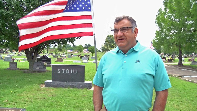 Frank Stout said his dad will be among those honored at Rosedale Cemetery in Ada. (KTEN)