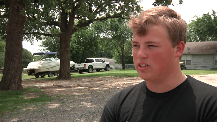 Boy Scout William Durrett is being recognized for saving his neighbor from a burning home. (KTEN)