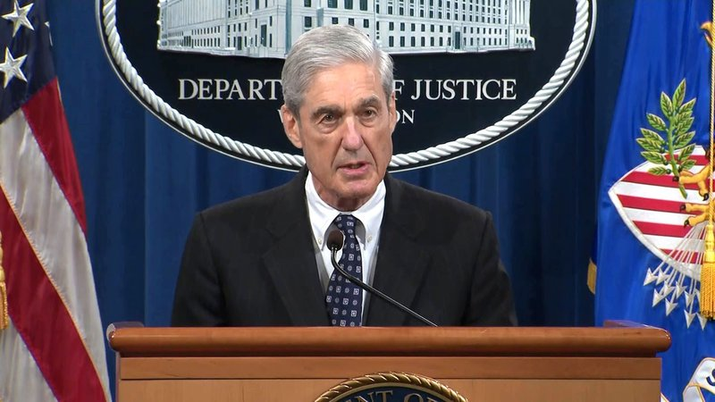 Special Counsel Robert Mueller speaks about his investigation on May 29, 2019. (CNN)