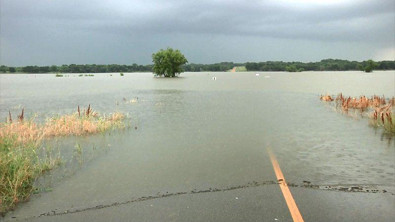 You may find snakes in unexpected places as the waters rise. (KTEN)