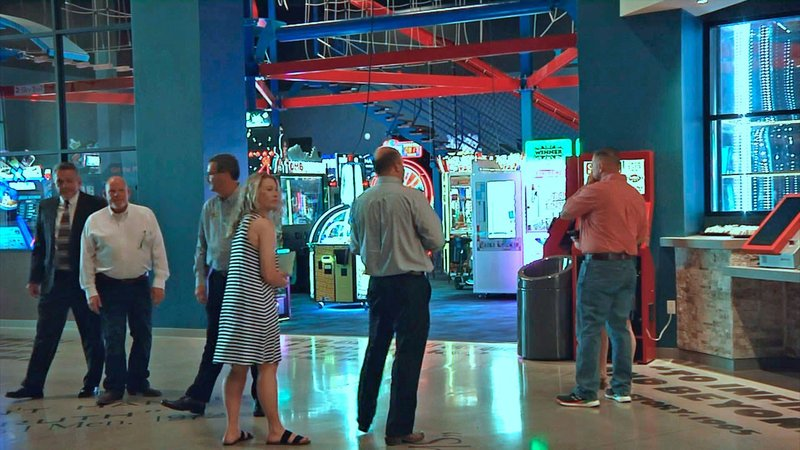 Schulman's Movie Bowl Grille in Sherman offers first-run films, bowling, arcade games and dining. (KTEN)