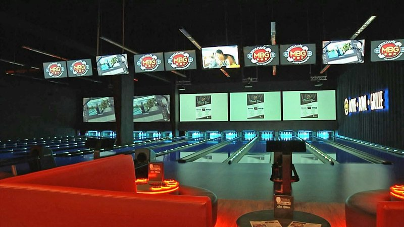 The bowling facility at Schulman's Movie Bowl Grille in Sherman. (KTEN)