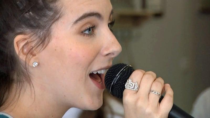 Lexi Rains rehearses for Music Matters in Denison. (KTEN)