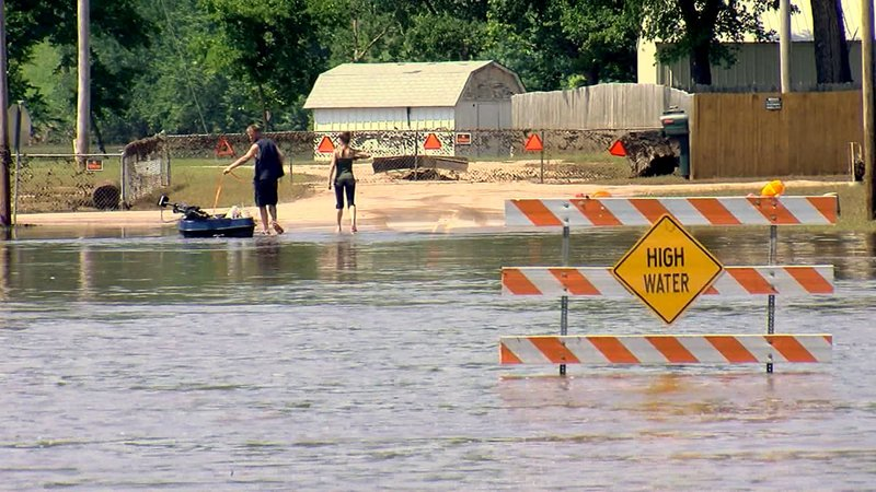 Tulsa residents are facing a long recovery from floodwaters. (KJRH via CNN)