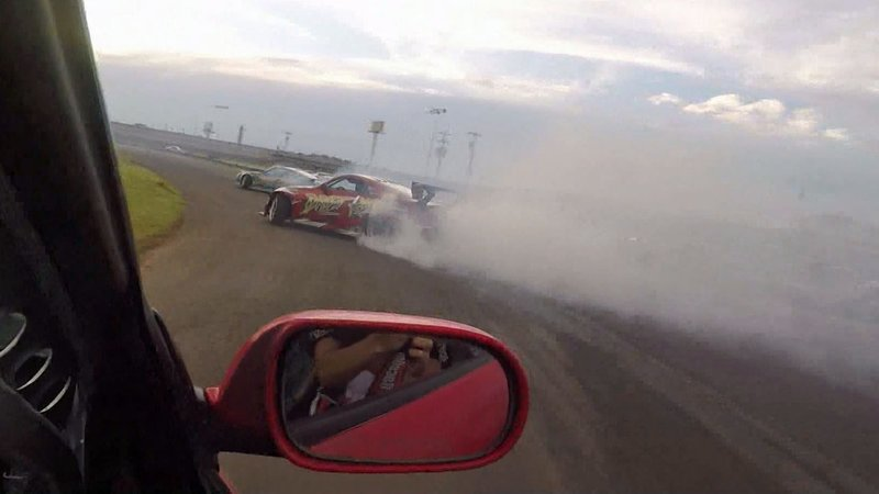 A drifting competition in Norman, Oklahoma, on June 1, 2019. (KTEN)