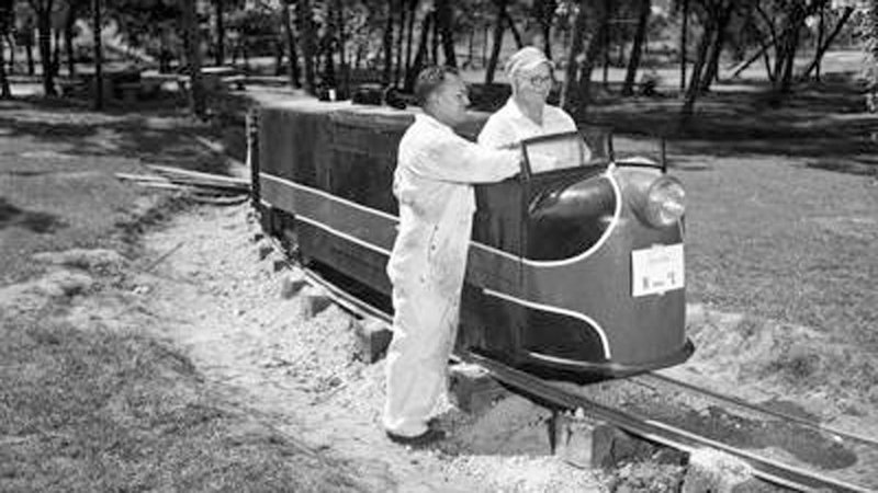 An undated file photo of the train at Wintersmith Park in Ada. (Courtesy Kiwanis Club)