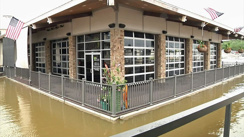 The Island Bar and Grill will reopen after the high water recedes. (KTEN)