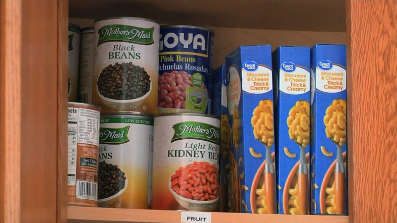 The food pantry at the Grayson County Shelter has run low on supplies. (KTEN)