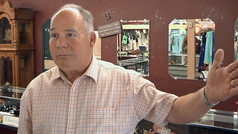 Davis business owner Jack Jones says the Main Street reconstruction project will have a beneficial effect in the long term. (KTEN)
