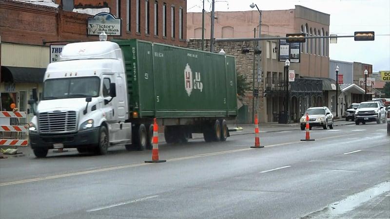 Heavy traffic in downtown Davis has caused Main Street to deteriorate. (KTEN)