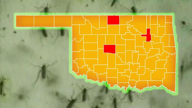 The Oklahoma State Department of Health said there are confirmed human cases of West Nile Virus in three counties as of June 7, 2019. (KTEN)