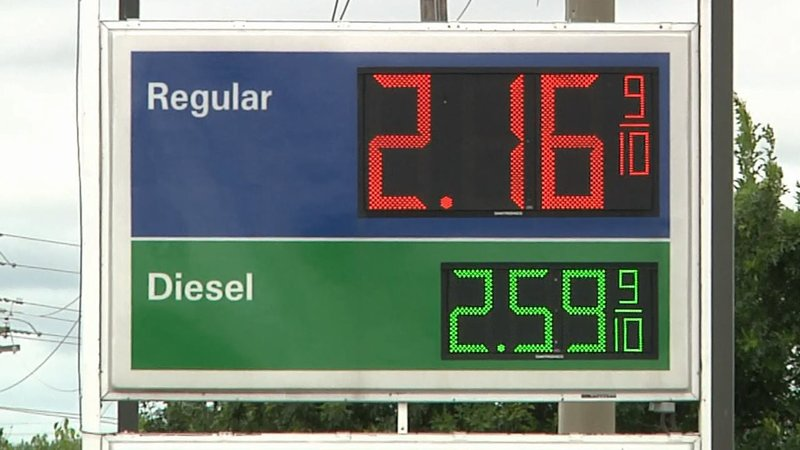Gas prices have Texoma motorists smiling. (KTEN)