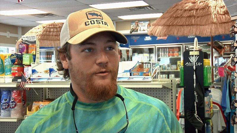 Grandpappy Point Marina employee Dylan Armstrong helped the injured after two personal watercraft collided on June 9, 2019. (KTEN)