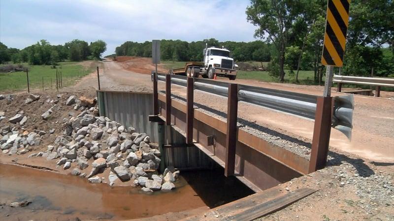 The new Dillard Road bridge has opened to traffic near Wilson, Oklahoma. (KTEN)