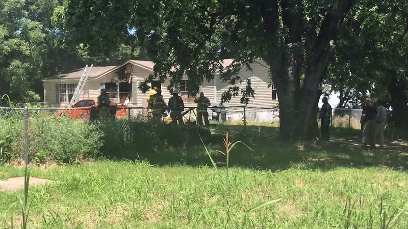 A fire burned this Madill residence on June 13, 2019. (KTEN)