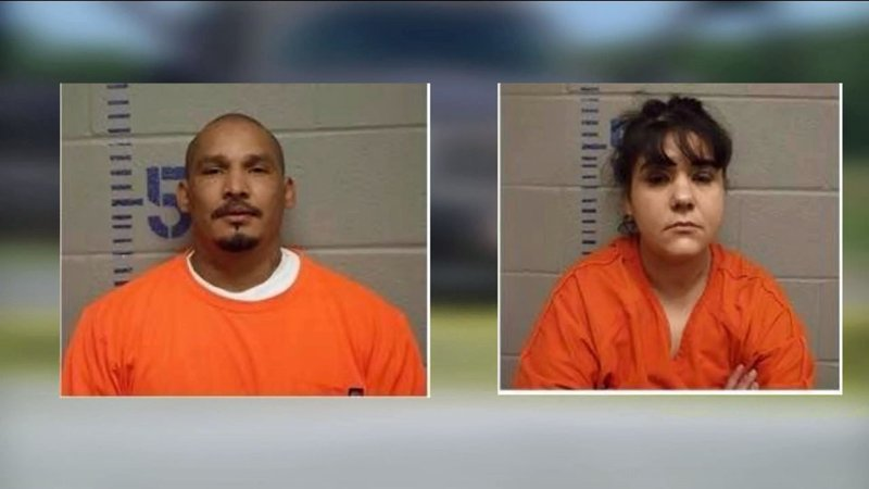Adam Quilimaco and Melissa Grayson were apprehended in Allen, Oklahoma, after at least one of them brandished a firearm. (KTEN)