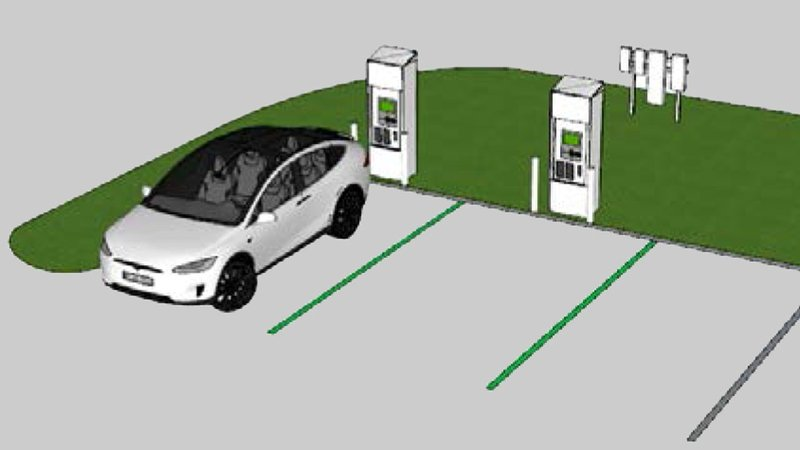 The new Durant EV charging stations will look like this. (Durant City Council)