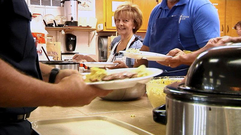 Public servants in Denison were treated to a lunch by area churches on June 14, 2019. (KTEN)