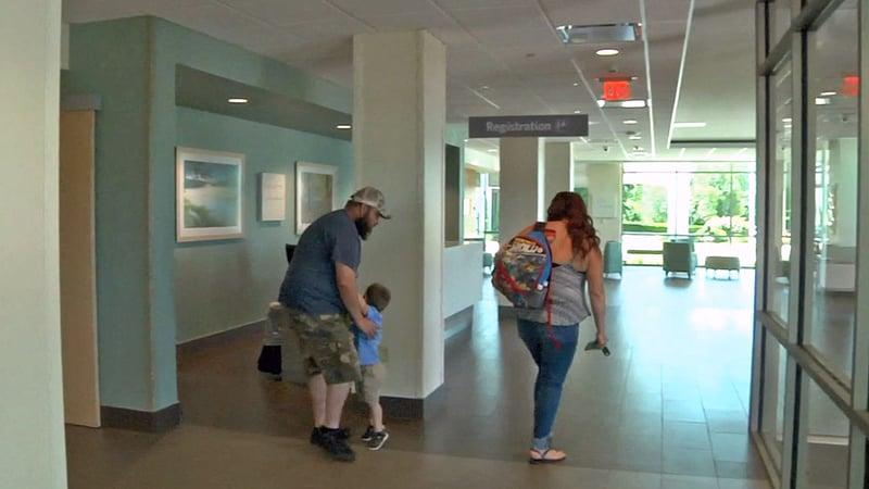The new lobby of Mercy Hospital in Ada. (KTEN)