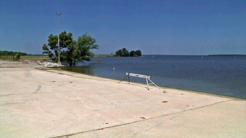 The boat ramp at the Denison spillway has reopened as Lake Texoma levels are dropping. (KTEN)