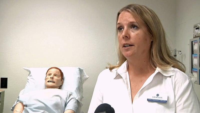 Jamie McKinney directs the nursing program at Grayson College. (KTEN)