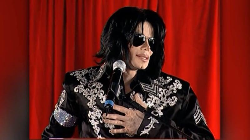 Michael Jackson announces his comeback tour in London on March 5, 2009. (CNN/File)